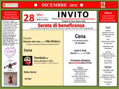 L'invito per l'iniziativa di solidarietà a favore dei terremotati a Pongelli di Ostra Vetere