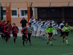 I giocatori della partita tra Vigor Senigallia e Olimpia Marzocca. Foto di Evandro Sartini