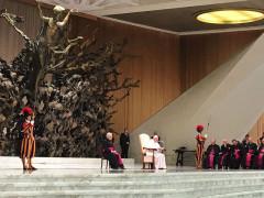 Papa Francesco incontra i sindaci delle comunità terremotate