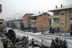 La neve caduta a Castelleone di Suasa nella mattinata di giovedì 5 gennaio 2017