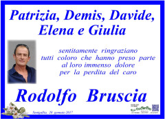 Manifesto di ringraziamento della famiglia Bruscia