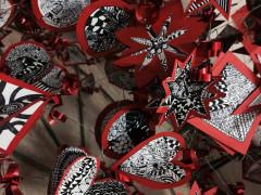 Zentangle per un albero di Natale ecologico alla scuola Fagnani di Senigallia