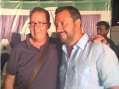 Davide Da Ros con Matteo Salvini