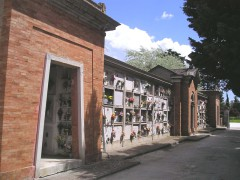 Il cimitero a Montignano di Senigallia