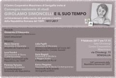 La locandina del convegno su Simoncelli a Senigallia