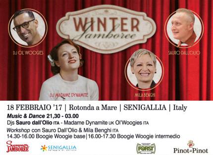 La locandina dell'appuntamento del 18 febbraio del Winter Jamboree #11