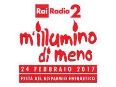 """La locandina dell'iniziativa per il risparmio energetico """"M'illlumino di meno"""" promossa da Radio 2 Caterpillar"""