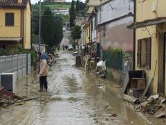 I danni causati dall'alluvione di Senigallia del 3 maggio 2014