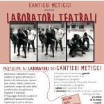 """La locandina dei laboratori dei """"Cantieri Meticci"""""""