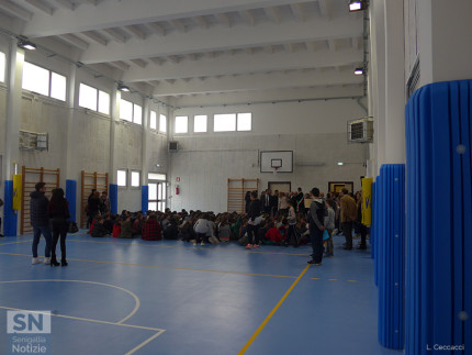 Riapertura palestra scuola Marchetti: interno della struttura
