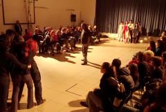 Un momento della rappresentazione dei Cantieri Meticci al Cesano di Senigallia