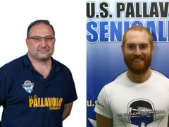 Roberto paradisi ed Emanuele Ansemi, coach U.S. Pallavolo Senigallia