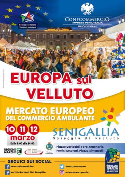 """La locandina del mercato europeo """"L'Europa sul Velluto"""""""