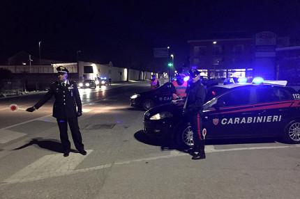 I controlli dei Carabinieri a Senigallia, lungo la statale Adriatica SS16
