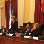 La presentazione del Testo Unico Amianto nella sala consiliare di Senigallia: l'intervento della senatrice Camilla Fabbri che ha presentato il ddl