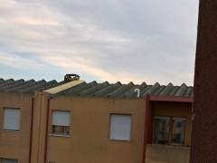 Lastre in cemento amianto presso la casa albergo