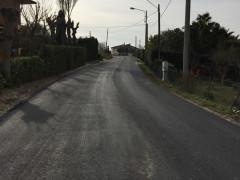 Asfaltata via Consolazione nella municipalità di Castel Colonna (Trecastelli)