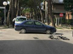 ciclista investito in via la Marca