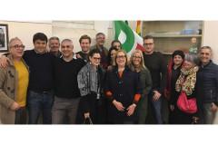 Gli iscritti PD a sostegno della mozione Renzi a segretario del Partito Democratico