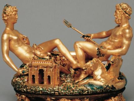 La Saliera di Francesco I di Francia (1540-1543), opera di Benvenuto Cellini