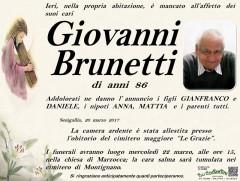 Il manifesto funebre per Giovanni Brunetti
