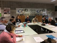 La prima riunione di giunta del Coni Marche presieduta da Fabio Luna