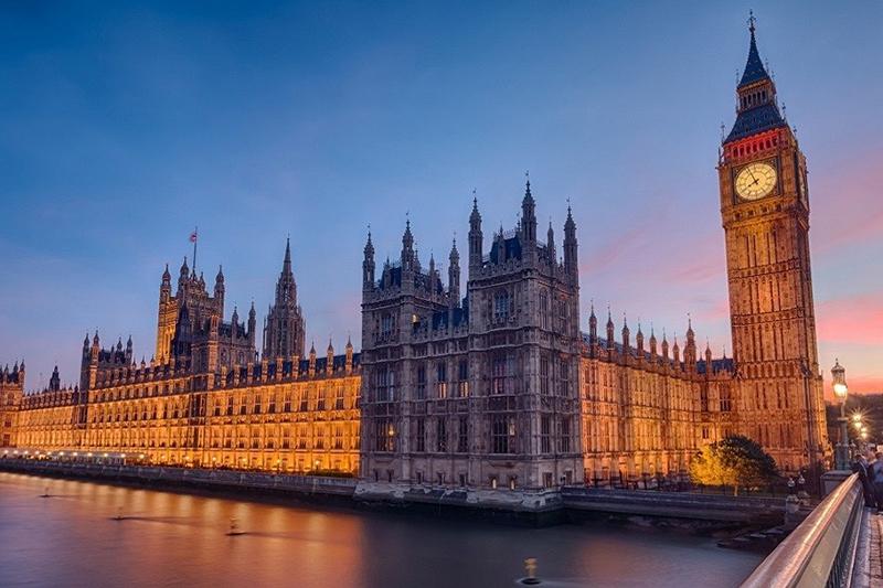 Il Palazzo Di Westminster A Londra Sede Del Parlamento Inglese