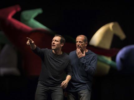 """""""Giocando con Orlando"""" messa in scena da Stefano Accorsi e Marco Baliani: foto di Alessandro Moggi"""