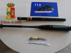 Le armi poste sotto sequestro dalla Polizia a Senigallia