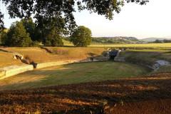 L'anfiteatro romano della città romana di Suasa a Castelleone di Suasa