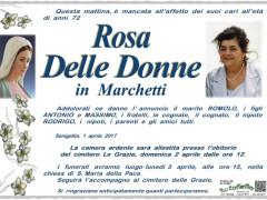 Necrologio Rosa Delle Donne