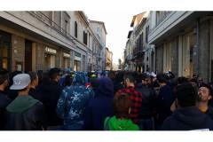 La manifestazione antifascista contro gli attivisti di Casa Pound