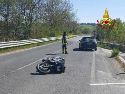 L'incidente stradale avvenuto in località Cannella di Senigallia