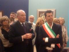 L'inaugurazione della mostra sul futurismo a Senigallia