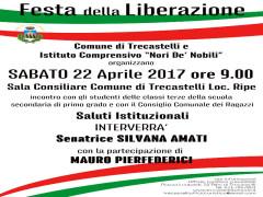 Evento per Festa Liberazione a Trecastelli