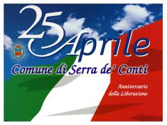 La locandina dell'evento a Serra de' Conti per la Festa della Liberazione del 25 aprile