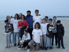 La squadra optimist del Team Sailing Park