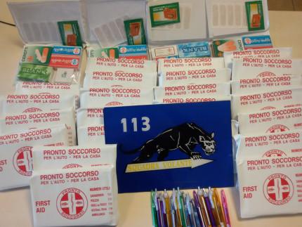 Falsi kit di pronto soccorso venduti presso l'ospedale di Senigallia e sequestrati dalla polizia