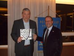 Giorgio Panzini all'incontro del Rotary Club di Senigallia