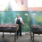 Festa del Cuntadin a Montignano di Senigallia - La cottura alla griglia