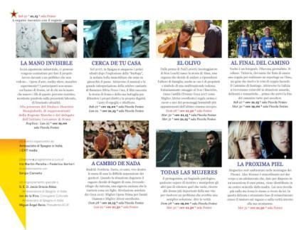 Programma Festival del cinema spagnolo