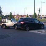 Incidente alla rotatoria di viale Giordano Bruno