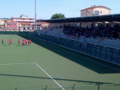 Vigor Senigallia - Olimpia Marzocca: gioia dopo il gol di Moschini
