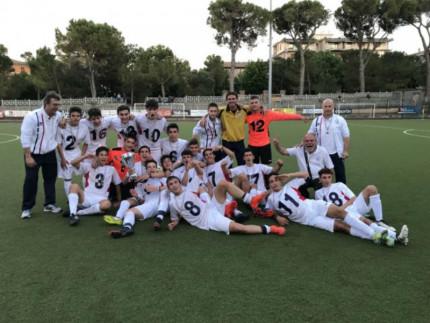 Allievi FC Senigallia-Vigorina campioni delle Marche 2016-17