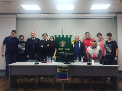 Organizzatori e relatori del convegno sulla sicurezza stradale al liceo Medi di Senigallia
