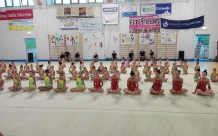 Saggio finale Uisp Senigallia, ginnastica ritmica