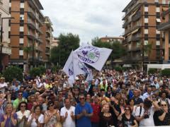 Pubblico per Salvini a Porto San Giorgio