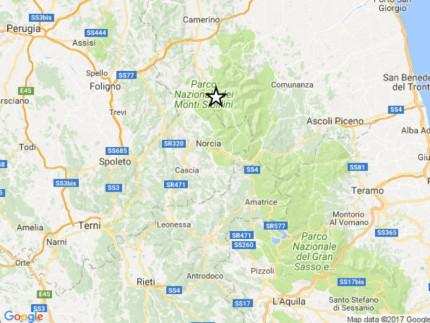 Scossa a Castelsantangelo sul Nera