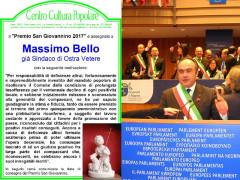 Premio San Giovannino 2017 di Ostra Vetere assegnato a Massimo Bello