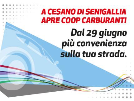A Cesano di Senigallia apre Coop carburanti